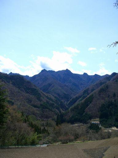 野栗古道からの風景