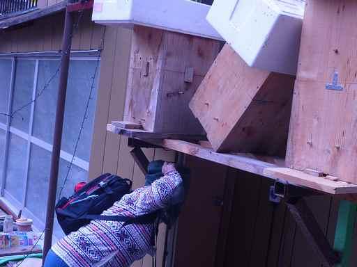 日本みつばちの巣箱作り
