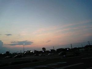 学習センターから見た西の空
